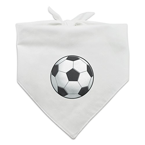 Graphics and More Soccer Ball Football Dog Pet Bandana - White