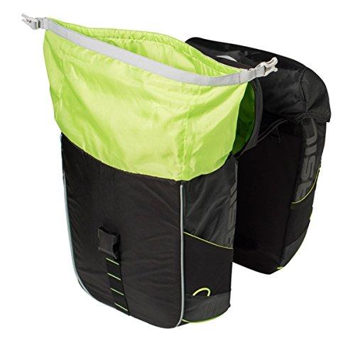 BASIL MILES doppelpacktasche 37l Black Lime Gepäckträgertaschen Fahrradtasche Bike Taschen