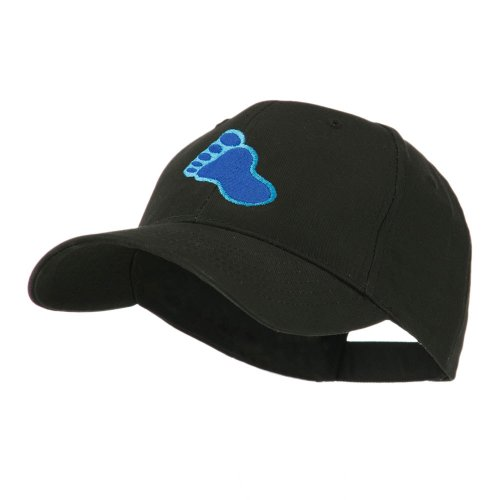 e4Hats.com Bigfoot Track Mascot Embroidery Cap - Black OSFM