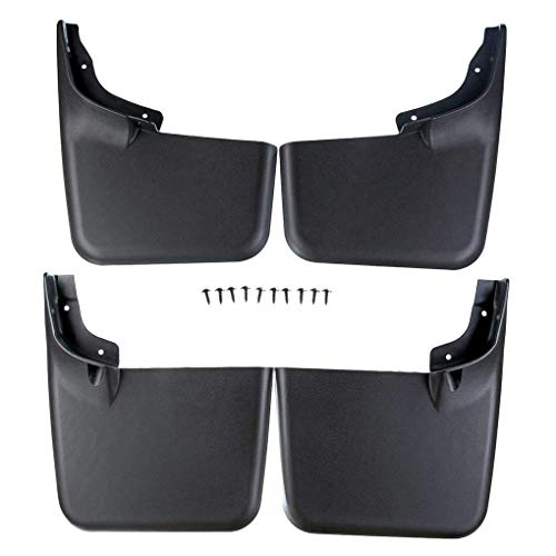 Mud Guard Mud Flaps Car Front Rear ABS Plastic Splash Protector Replacement for F-150 2004-2014 No Fender Flares ()