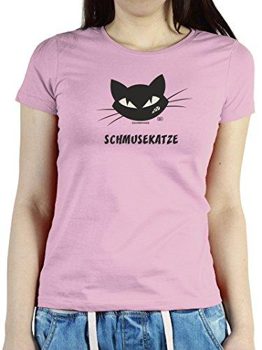 Witziges Sprüche Fun Damen T-Shirt :Schmusekatze