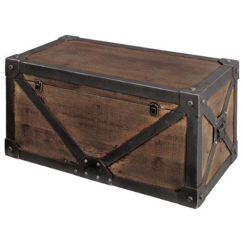 収納ボックス 収納ケース 整理ボックス 木製 トロール ミッドセンチュリー トランクL IW-983 B00DDWG4H0