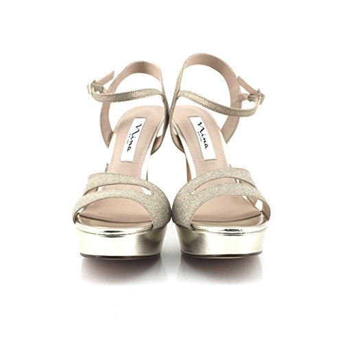 NINA NEW YORK Damen Sandalen Gold Platino