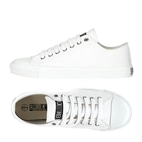 Ethletic Sneaker Vegan LoCut Collection 17 - Farbe Just White/Just White Aus Bio-Baumwolle