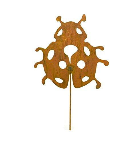 Ladybug Metal Garden Stake