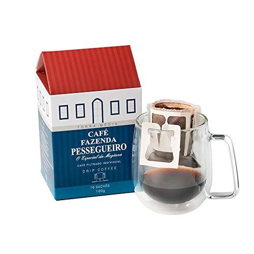Café Fazenda Pessegueiro Torrado e Moído Drip Coffee 10 unidades