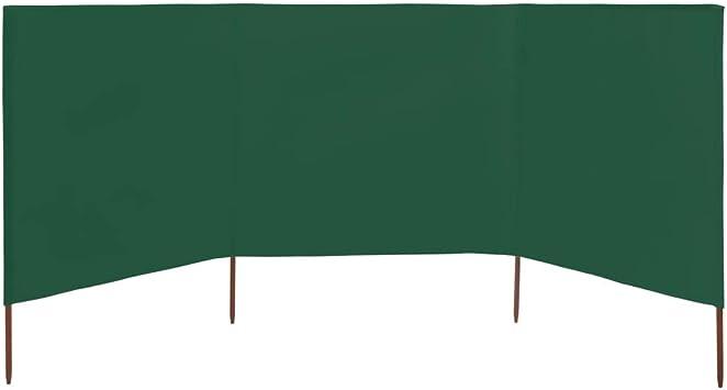 vidaXL Windschutzgewebe 5-tlg 600x120cm Grün Windschutz Sichtschutz Garten