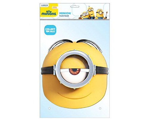 Costume Me Uk Despicable Minion (Stuart Minion Card Party Mask)
