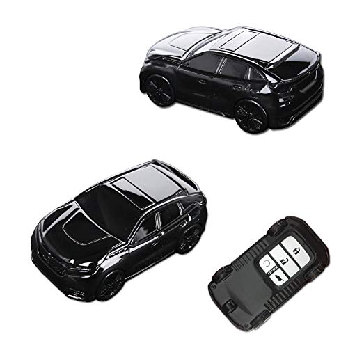 GTINTHEBOX 1PC Premium Kelyess Remote Chrome Black Car Auto SUV Model ABS Plastic Key Fob Case Cover Protective Shell for Honda 2/3/4/5-Buttons Accord Civic Crosstour HRV FIT Odyssey Ridgeline, etc