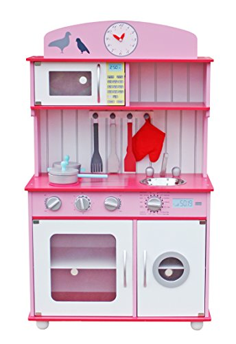Deluxe Wooden Kitchen Toy Pretend Kids Children Role Play...