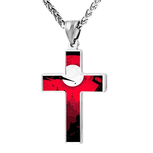 Kenlove87 Patriotic Cross Embrace The Darkness Religious Lord'S Zinc Jewelry Pendant Necklace -