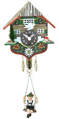 Engstler Key Wind-up Cuckoo Clock Boy on Swing