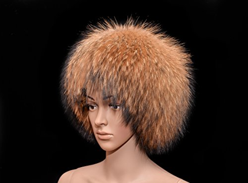 Royal Saga Furs Natural Finnraccoon Full Fur Cossack Bucket Style Women's Hat by Your Furrier