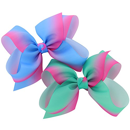 Myamy-6-inches-Hair-Bows-For-Girls-Large-Big-Grosgrain-Ribbon-Boutique-Rainbows-Hair-Bow-Clips-For-Kids-Toddlers-Teens-Children-Gifts-Set-Of-12