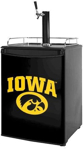 B00ATR20EI Kegerator Skin - Iowa Hawkeyes Tigerhawk Oval 01 Gold on Black (fits medium sized dorm fridge and kegerators) 41Jx7-ufh9L.