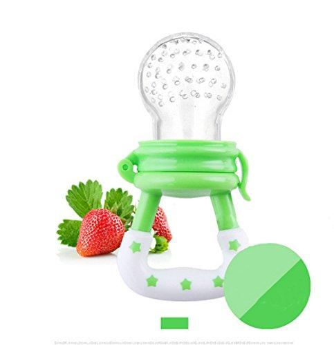 Qiyun bebé juguetes Alimentos Frescos Alimentador Alimentación Tetina de silicona dispositivo de formación Molar Rod Solid...