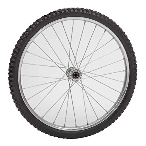 Lapp Wheels Flat Free Wire Spoke Wheel, Silver, Turf-Style Tread, Various Diameter/Bearing ()