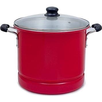 IMUSA - Vaporizador con tapa de cristal, 12 cuartos, color rojo: Amazon.es: Hogar