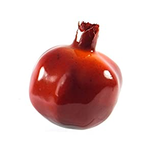 6pc Artificial Large Pomegranates - Pomegranate Plastic Red Fruit - Six Pieces 1