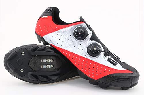 Rotativo Plata Suela rojo Con Sistema De Y Laser Goma Tacos Carbono Doble Natural Mtb Zapatillas Ciclismo Luck FvfqB