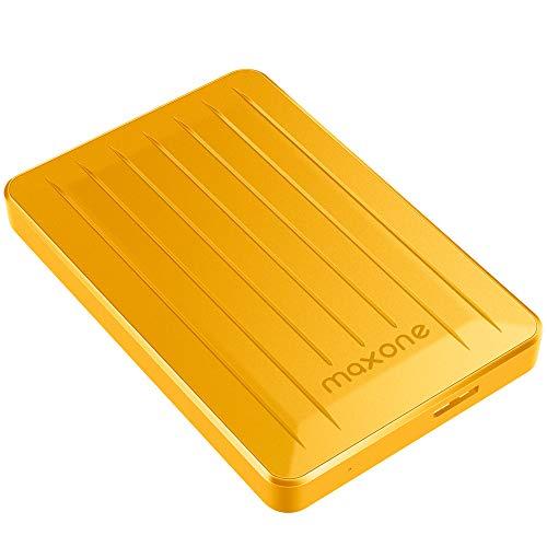 160GB External Hard Drive - Maxone Upgrade 2.5'' Portable HDD USB 3.0 for PC, Laptop, Mac, Chromebook, Smart TV - Yellow