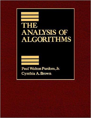 The Analysis of Algorithms