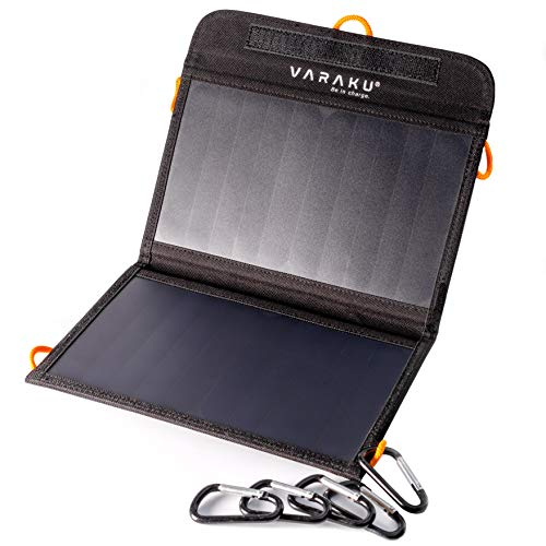 Portable Solar Charger 10W – Dual USB Solar Panel Foldable – Best Power for, iPhone, X, 8, 7, 6s, iPad, Cell Phone Android & Electronic Devices – Waterproof Sun Phone Charger for Camping & Hiking Review
