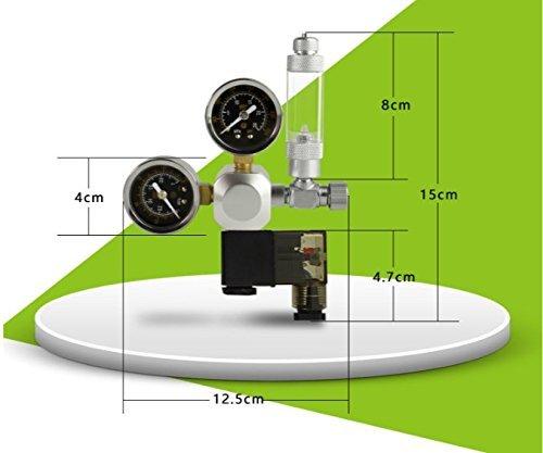 indicadores de doble regulador de CO2 6,5 Acuario Co2 descompresi/ón cuadro carbono electromagn/ética v/álvula de gran precisi/ón micrometering