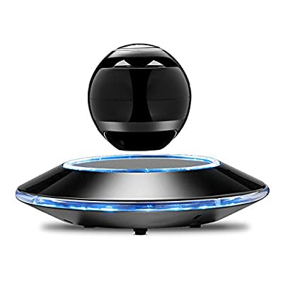 Infinity Orb Levitating Bluetooth Speakers Magnetic Wireless Floating Speaker with LED Light for Hands-free Call and Music Play (Black) by Infinity Orb