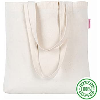 """Washable 15.7""""x15.7""""x3.3""""(bottom gusset)x13""""(hand drop) Resuable Cotton Canvas Tote Bag Designer Grocery Shopping Bags Convenient for Everyday Shopping Perfect for Crafting Decorating"""