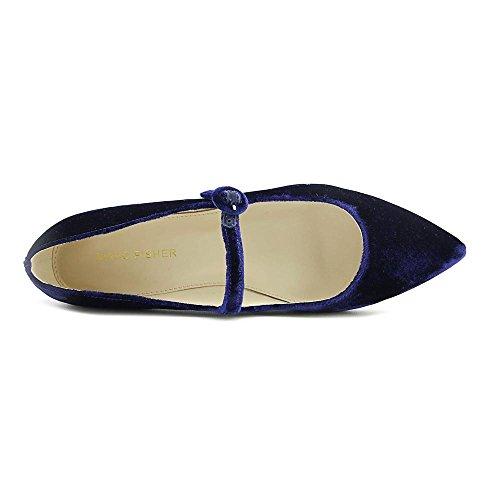 Flats Mary Marc Jane Fabric Stormy2 Womens Medium Toe Blue Fisher Pointed wWYPqY8xTf