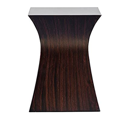 Furnilac Square Hourglass Accent Table - Table Measures 14 Inches Wide X 14 Inches Long X 19 Inches Tall Modern Espresso Woodgrain Finish Quality Contruction Made With Solid Wood and MDF Veneer Construction - living-room-furniture, living-room, end-tables - 41Jx947KmEL. SS400  -