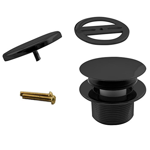 Westbrass Mushroom Tip-Toe Tub Trim Set with Floating Faceplate, Matte Black, D398RK-62