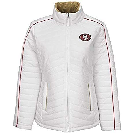 Image Unavailable. Image not available for. Color  NFL San Francisco 49ers  Milestone Tracker Women s Quilted Jacket ... 8830d2ff7d