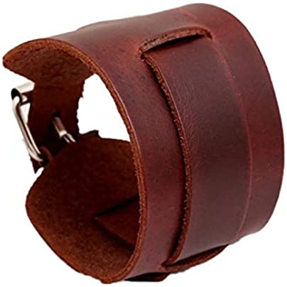 ZUOZUO Leather Wristband Cool Men And Women Wear Wide Belt Bracelet Cuff Bracelet Bracelet Leather Bracelet Black Brown Estimated Price £17.99 -