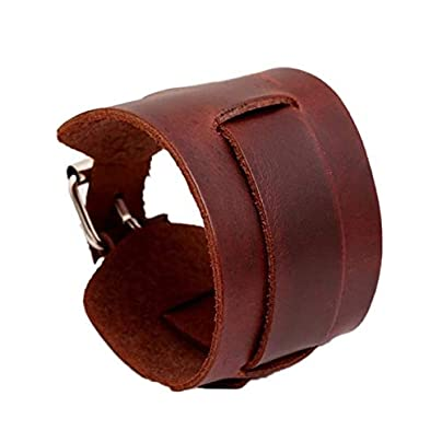 ZUOZUO Leather Wristband Cool Men And Women Wear Wide Belt Bracelet Cuff Bracelet Bracelet Leather Bracelet Black Brown Estimated Price £17.99 -