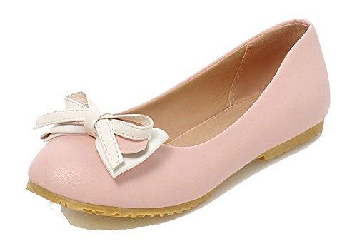 Puro Rosa Tirare Donna Ballet Senza Tacco Punta Chiusa FBUIDC005062 AllhqFashion Flats Luccichio wZCXqxBB