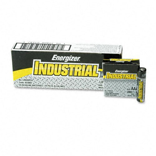 Energizer : Industrial Alkaline Batteries, AAA, 24 Batteries per Box -:- Sold as 2 Packs of - 24 - / - Total of 48 -