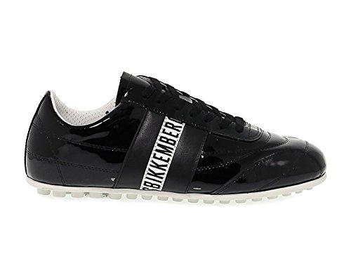 Bikkembergs Donne Bke107823w Sneakers In Pelle Di Vernice Nera