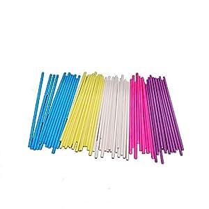 Ogquaton Varillas de chupetes Colores de 6 Pulgadas 7 ...