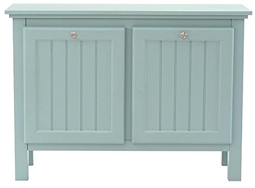 "Price comparison product image Ridgemore Double Bathroom Hamper, 27""Hx38""Wx14""D, SEA GLASS"