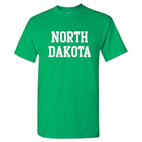 (AS01 - North Dakota Fighting Hawks Basic Block T-Shirt - Small - Irish Green)