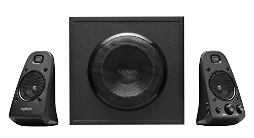 Logitech Z623 200 Watt Home Speaker System, 2.1 Speaker System (Insignia 2-1 Channel Soundbar With Wireless Subwoofer)