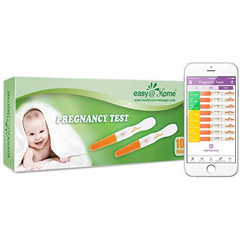 Easy@Home Pregnancy Test Sticks - hCG Midstream - 10 Pack