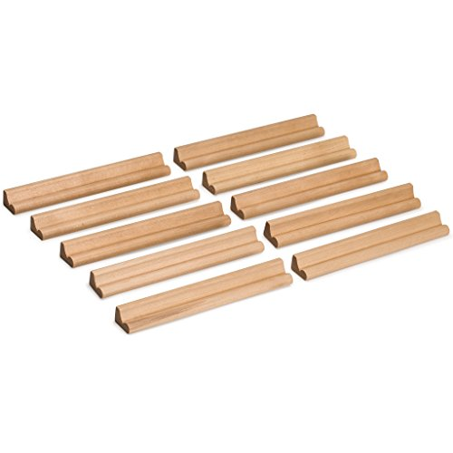 Yellow Mountain Imports Racks Wooden Holder for Scrabble Tiles (Set of 10) - Made from Durable Wood ()