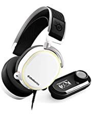 SteelSeries Arctis Pro + GameDAC Gaming Headset - Certified Hi-Res Audio System for PS4 and PC - White