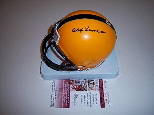 - Autographed Alex Karras Mini Helmet - Iowa Hawkeyes coa - JSA Certified - Autographed College Mini Helmets