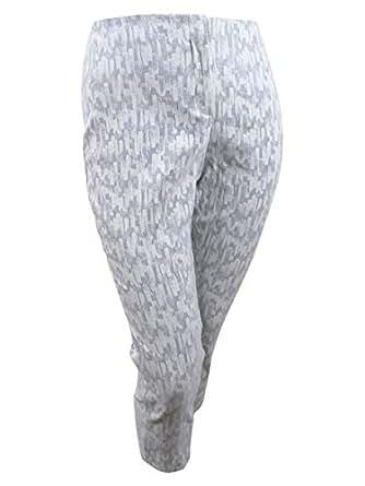 Alfani Womens Plus Metallic Jacquard Ankle Pants - Multicoloured - 20W