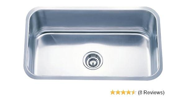 Dowell Undermount Single Bowl 18 Gauge Kitchen Stainless Steel Sinks (6001  3018)