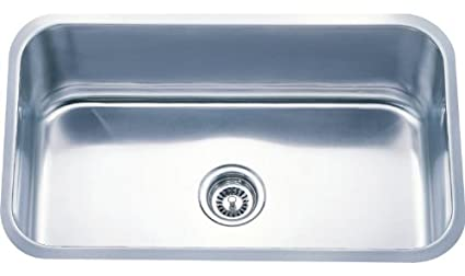 Dowell Undermount Single Bowl 18 Gauge Kitchen Stainless Steel Sinks ...